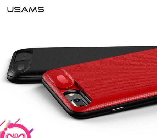 the latest 9f3d1 3306e USAMS Battery Charger Cases for iPhone 6 6s 7 8 Plus 3000/4200mAh Power  Bank Case Ultra Slim External Pack Backup charger case